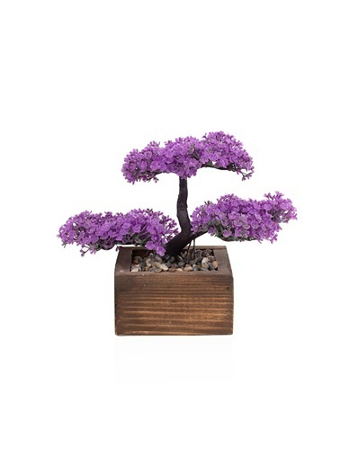 Çiçekmisin Kasada Minyatür Yapay Ağaç Mor